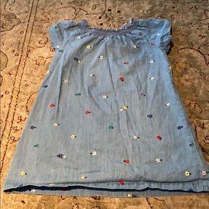 Hanna Andersson blue denim girl's dress 5.